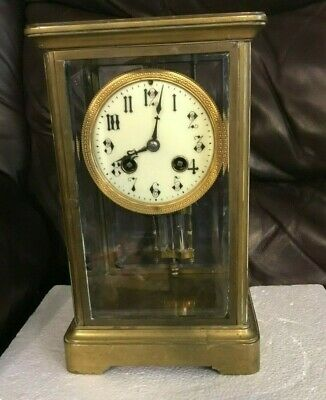 Rare Antique Japy Freres & Co. Crystal Regulator Clock Meo O'Homneum France