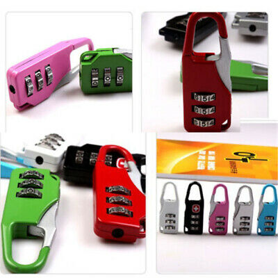 Security 3 Digit Combination Mini Travel Suitcase Luggage Bag Small Code Lock TR