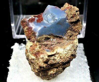 Minerals : Geode With Blue Opal Interior From Oregon, Usa