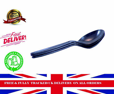 500 CUT-PSB Deluxe Black Soup Spoons Food packaging