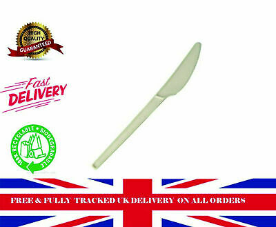 500 CUT-CPLA-K Compostable Knives White Food packaging