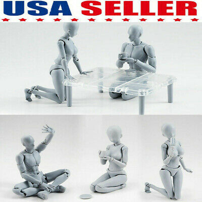Drawing Figures For Artists Action Figure Models Human Mannequin Man Woman Set