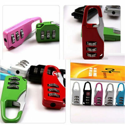Security 3 Digit Combination Portable Suitcase Luggage Bag Code Lock
