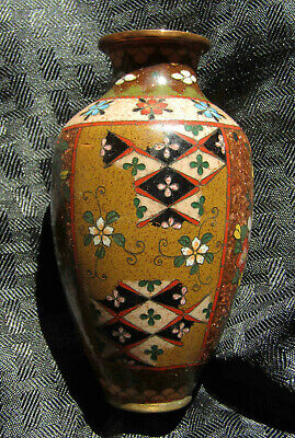 ATT. Namikawa Yasuyuki OLD Japanese Cloisonne Enamel Vase with PROVENANCE NO RES