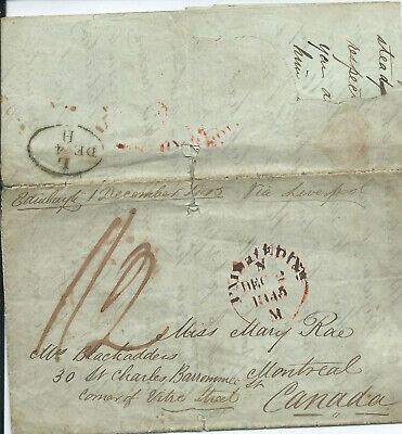 GB 1836 Signed Freefront from St Albans to Canterbury with Inspector Mark