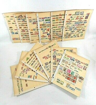 Miscellaneous Lot of Used World Stamps on 12 Stock Cards, 30 Years in Storage-#1