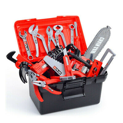 Kids Children Deluxe Drill Tools Box Set DIY Builders Building Construction Toy
