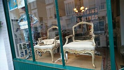 A Pair Of Louis XV Fauteuil armchairs