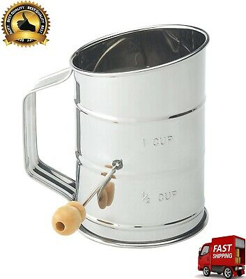 Made From Stainless Steel Hand Crank 1 Cup Knob Handle Baking Crank Flour Sifter
