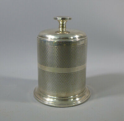 Art Deco Hallmarked Sterling Silver Cigarette Dispenser Bakelite Lining 1934