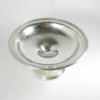 Vntg Wallace Sterling Silver Embossed Footed Candy Nut Serving Compote Dish H-23