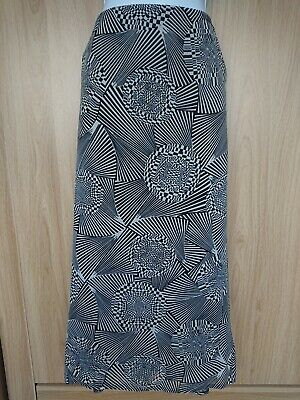 Bianca Womens Casual Summer Black And White Long Skirt Size 20