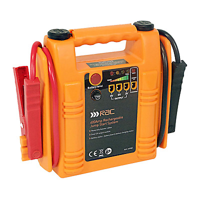 RAC Jump Starter - Heavy Duty 400 Amp Rechargeable - Orange/red