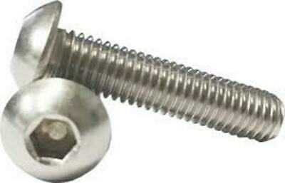 M5 Button Socket Dome Head Bolt Stainless Steel A4 Marine Grade Screw ISO 7380