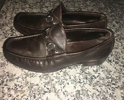 a985c2b55 Gucci Classic horsebit shoes loafers Brown mens size 9.5 D # 015938 Italy