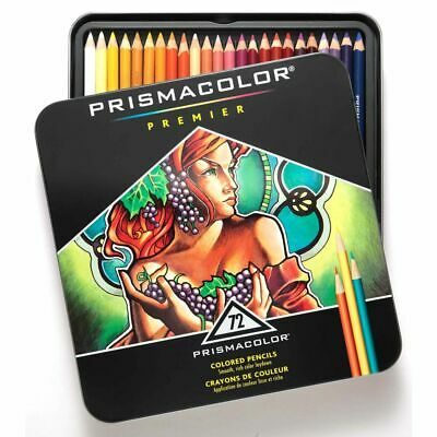 Prismacolor Premier Assorted Colors Pencils Soft Core (72 Pack)