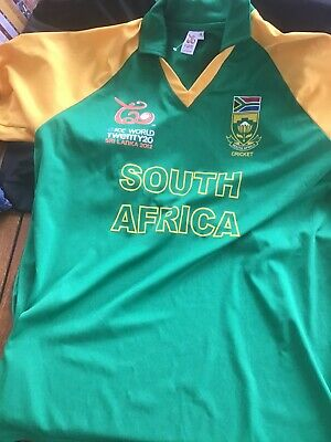 MEN'S SOUTH AFRICA OFFICIAL 2012 ICC WORLD CUP CRICKET SHIRT, SIZE Med