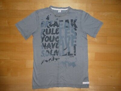 large discount how to buy look out for S. OLIVER KINDER Jungen T- Shirt grau Gr. 164 L Buchstaben ...
