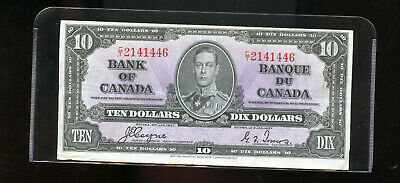 1937 Bank of Canada $10 F ++ Coyne Towers  DW6