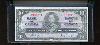 1937 Bank of Canada $10 VG Coyne Towers  DW7