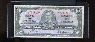 1937 Bank of Canada $10 VG Coyne Towers  DW8