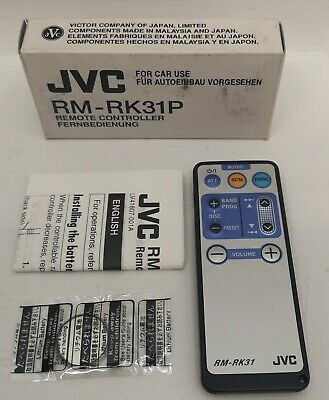 JVC RM-RK31 Infra Red Remote Control for select JVC Car Stereos NOS#