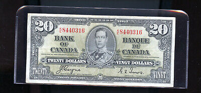 1937 Bank of Canada $20 F Coyne Towers  DW11