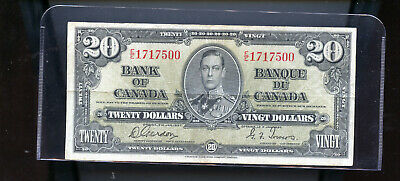 1937 Bank of Canada $20 F Gordon Towers  DW13