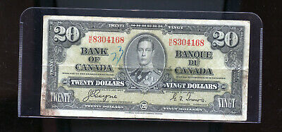 1937 Bank of Canada $20 VG Coyne Towers  DW14