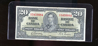 1937 Bank of Canada $20 F Gordon Towers  DW15