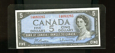 1954 Bank of Canada $5 Beattie Rasminsky UNC DW32