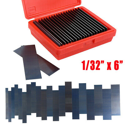 """Parallel Set 1/32"""" Ultra Thin Steel 10 Pair Parallels .0002"""" Hardened"""