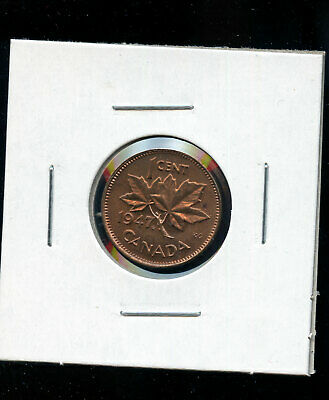 1947 ML Maple Leaf Canada Small Cent GEM UNC Red A979