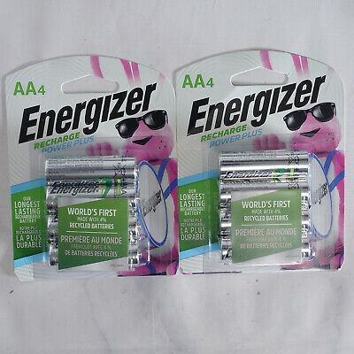 Energizer AA Rechargeable Batteries (4 Pack X 2), 2300MAH, 2 Counts, (Brand New)