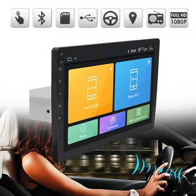 "1+16G Single 1-Din Android 8.1 10"" Car Stereo Radio GPS WiFi BT DAB Mirror Link"