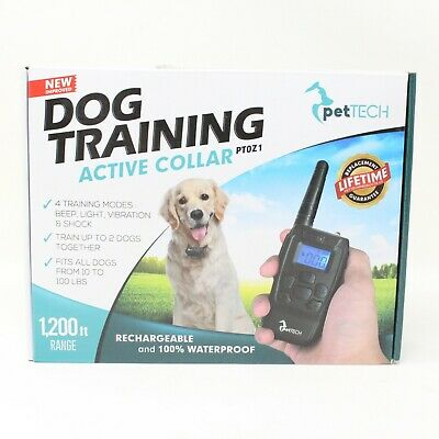 PetTech Remote Controlled Dog Training Collar Rechargeable Waterproof