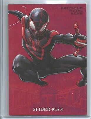 2017 Fleer Ultra Marvel Precious Metal Gems Red Ultimate Spider-Man /99