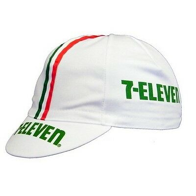 7 ELEVEN RETRO PRO CYCLING TEAM BIKE SUMMER HAT CAP - Vintage - Fixed Gear