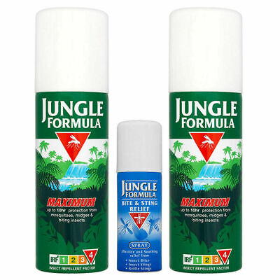 Jungle Formula Insect Repellent Travel Pack Spray Mosquito Holiday Bite Sting