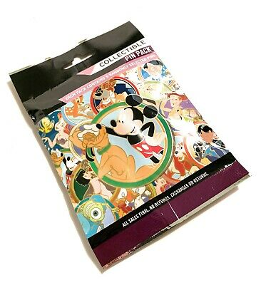 Disney Parks Best Friends Collectible Mystery 5 Pin Pack Bag Pouch Sealed - NEW