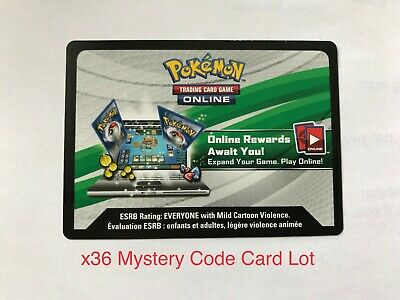 Pokemon TCG Mystery Online Code Card Lot (x36) Black White Sun Moon X Y Emailed