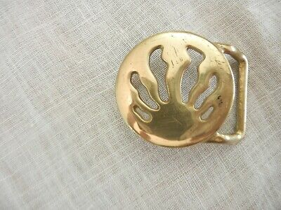 Vintage Solid Brass Abstract Belt Buckle
