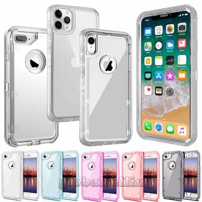For iPhone X XR XS Max 6s 7/8 Plus Case Clear Hard Shockproof Protective Cover