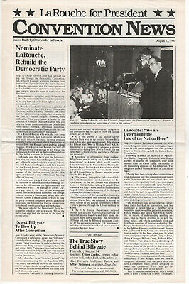 1980 LYNDON LAROUCHE President POLITICAL Newsletter CONVENTION NEWS Democrat