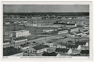 CAMP EDWARDS CAPE COD Massachusetts PC Postcard MILITARY Barnstable County ARMY