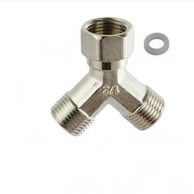 1Pc Copper Dishwasher Washing Machine Tap Y Dual Splitter 1/2""