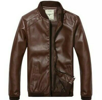 74fd1d685 DIXON LEATHER BROWN leather jacket mens Medium New! - $55.00 | PicClick
