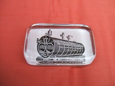 ADVERTISING GLASS PAPERWEIGHT WILLIAM WILSON & Co LILYBANK BOILER