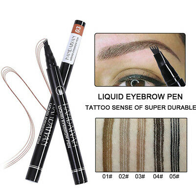 HANDAIYAN Microblading Waterproof Eyebrow Tattoo Pen Fork Tip Sketch Makeup Ink