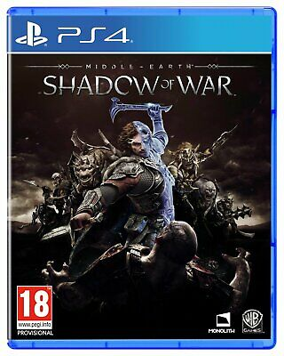 Shadow of War Standard Edition Sony Playstation PS4 Game 18+ Years
